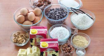 Торт из орехового бисквита и орехового безе с пралине — инструкция по приготовлению, шаг 1