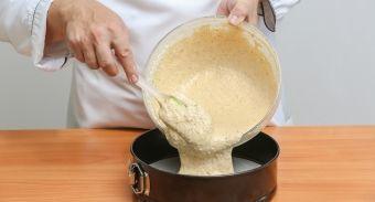 Торт из орехового бисквита и орехового безе с пралине — инструкция по приготовлению, шаг 2